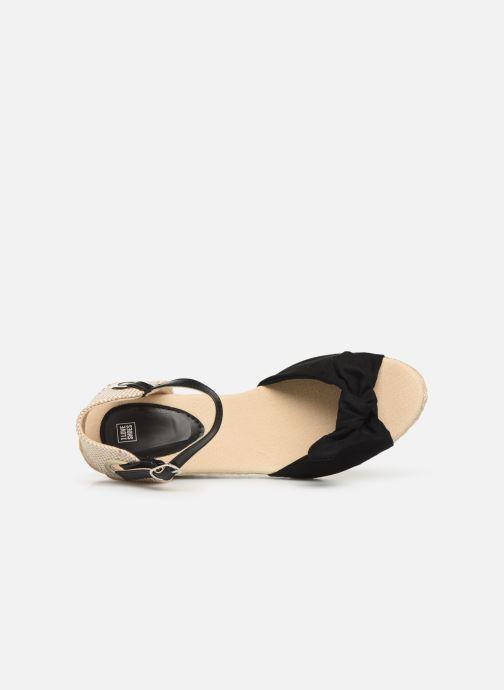 Alpargatas I Love Shoes KISOL Negro vista lateral izquierda