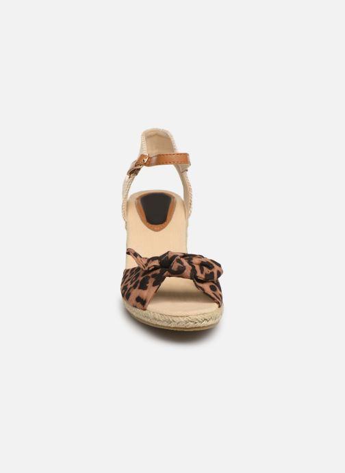 Espadrilles I Love Shoes KISOL Marron vue portées chaussures