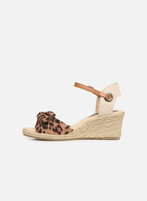 Alpargatas I Love Shoes KISOL Marrón vista de frente