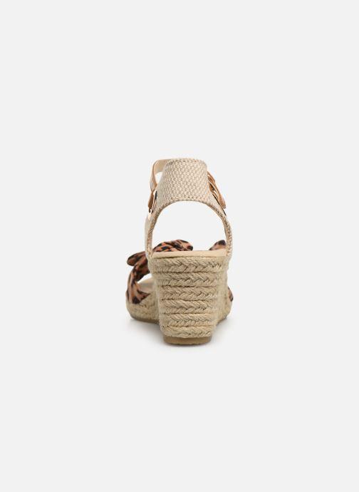 Alpargatas I Love Shoes KISOL Marrón vista lateral derecha