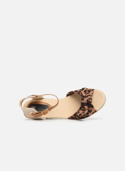 Alpargatas I Love Shoes KISOL Marrón vista lateral izquierda