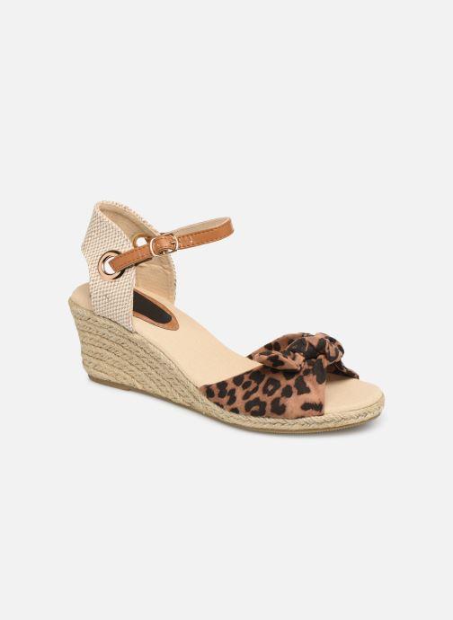 Espadrilles I Love Shoes KISOL Marron vue détail/paire