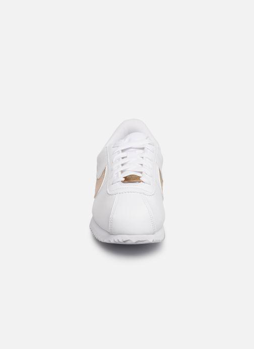 Sneaker Nike Nike Cortez Basic Sl Ep (Gs) weiß schuhe getragen