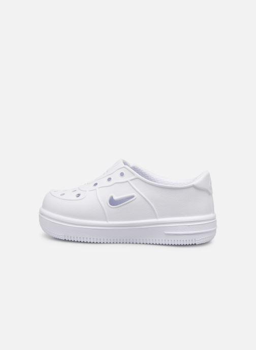 Sandalias Nike Nike Foam Force 1 (Td) Blanco vista de frente