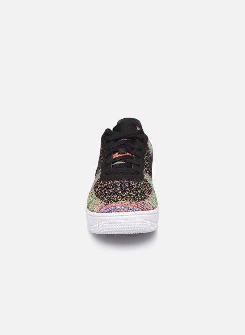Baskets Nike Air Force 1 Flyknit 2.0 (Gs) Multicolore vue portées chaussures