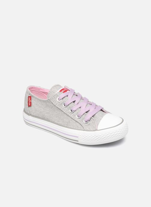 Baskets Levi's Trucker Low Glitter Gris vue détail/paire