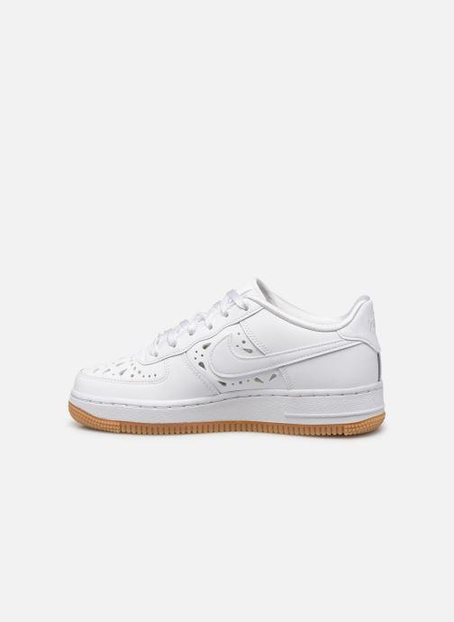 Baskets Nike Air Force 1 Flrl (Gs) Blanc vue face