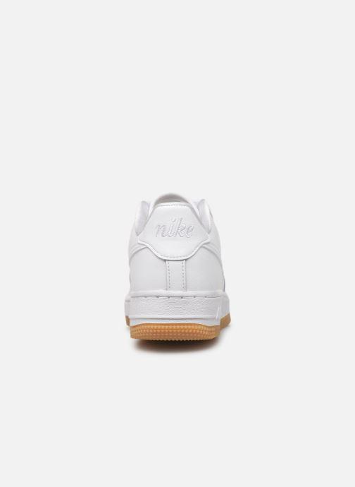 Baskets Nike Air Force 1 Flrl (Gs) Blanc vue droite