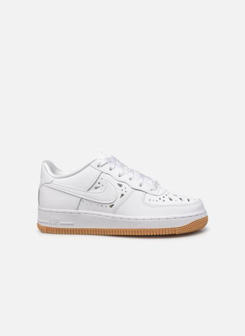 Baskets Nike Air Force 1 Flrl (Gs) Blanc vue derrière