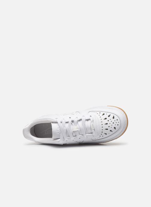 Baskets Nike Air Force 1 Flrl (Gs) Blanc vue gauche