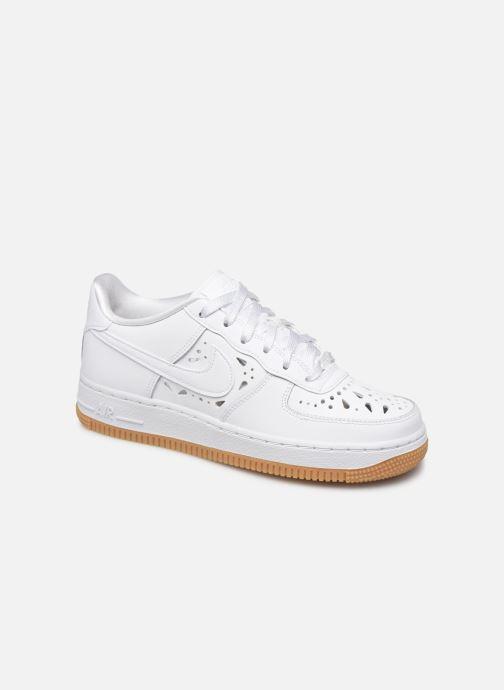 Baskets Nike Air Force 1 Flrl (Gs) Blanc vue détail/paire