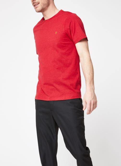 Vêtements Farah F4KS70X3 Rouge vue droite
