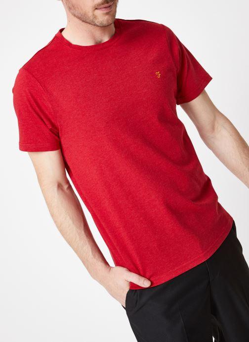 Vêtements Farah F4KS70X3 Rouge vue détail/paire