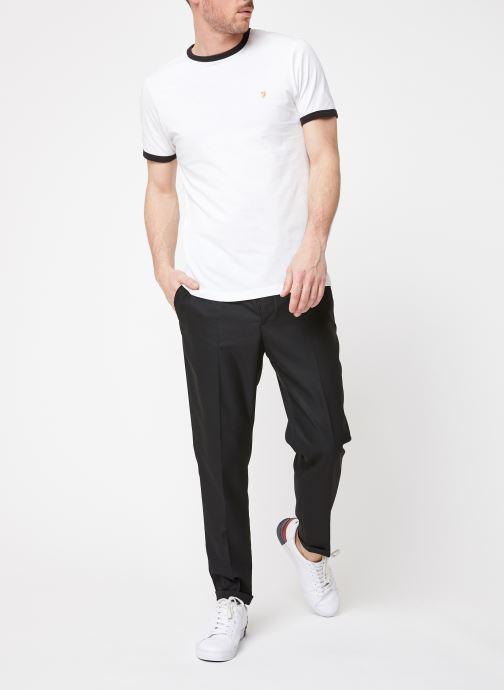Vêtements Farah F4KS60H9 Blanc vue bas / vue portée sac