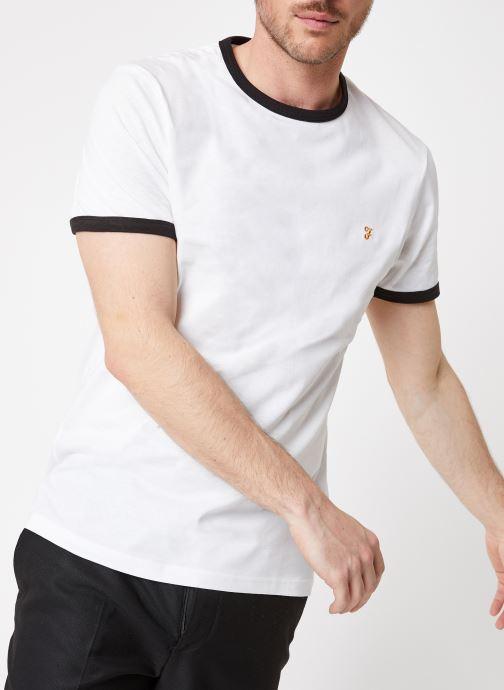 Vêtements Farah F4KS60H9 Blanc vue détail/paire