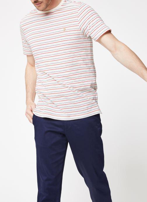 Vêtements Farah F4KS9020 Blanc vue droite