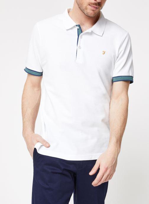 Vêtements Farah F4KH8025 Blanc vue détail/paire