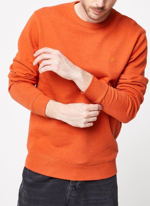 Vêtements Farah F4KS80H1 Orange vue détail/paire