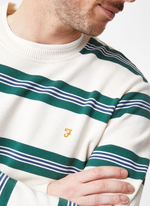 Vêtements Farah F4KS9058 Blanc vue face