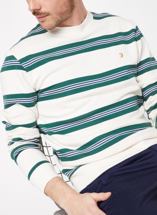 Vêtements Farah F4KS9058 Blanc vue détail/paire