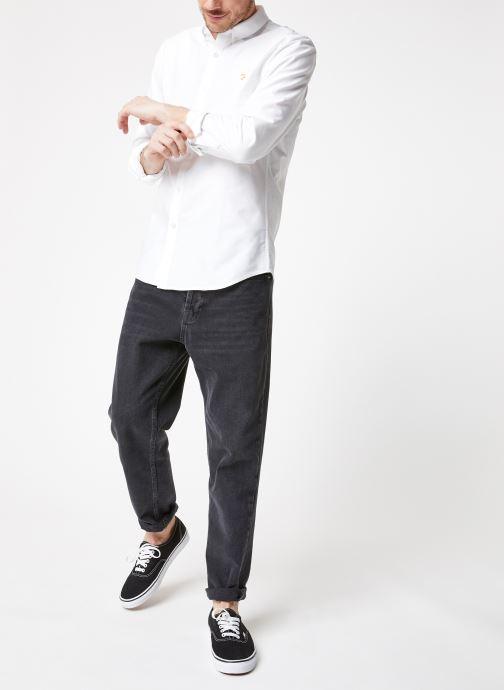 Vêtements Farah F4WS4054 Blanc vue bas / vue portée sac