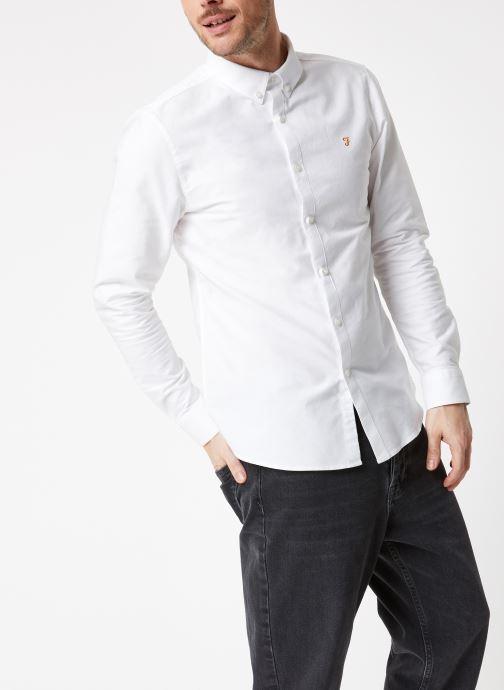Vêtements Farah F4WS4054 Blanc vue droite