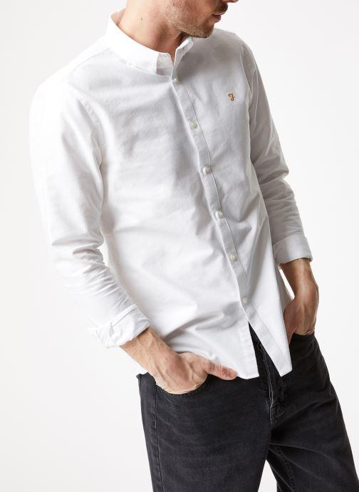 Vêtements Farah F4WS4054 Blanc vue détail/paire
