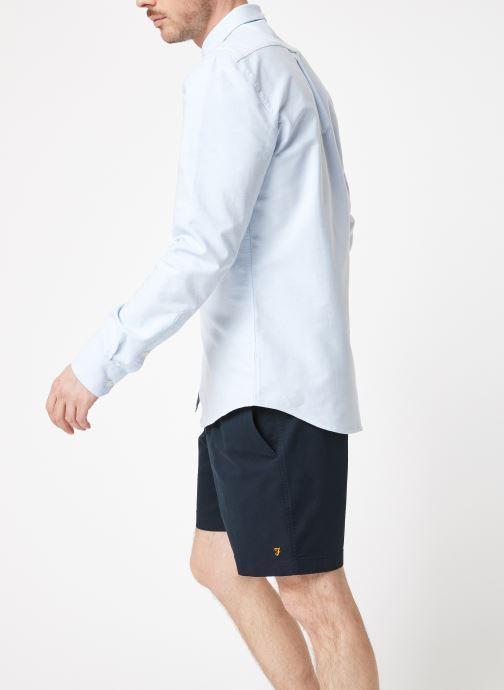 Vêtements Farah F4WS4054 Bleu vue droite