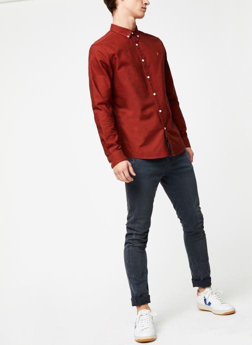 Vêtements Farah F4WS4054 Rouge vue bas / vue portée sac