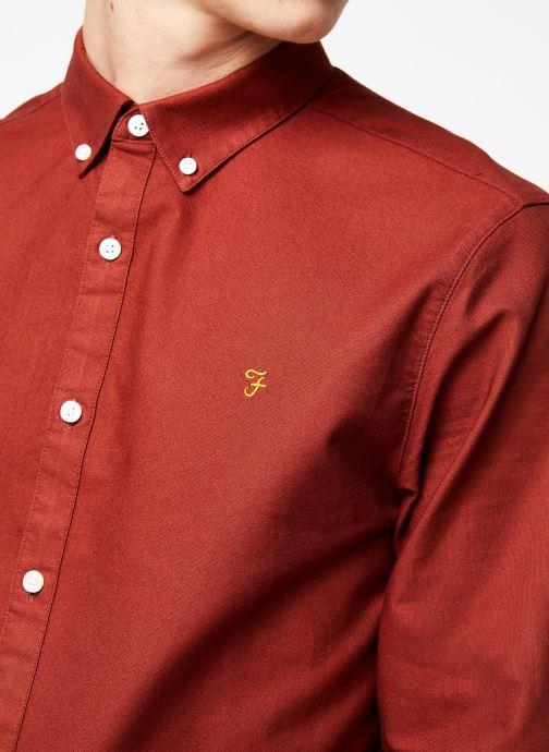 Vêtements Farah F4WS4054 Rouge vue face