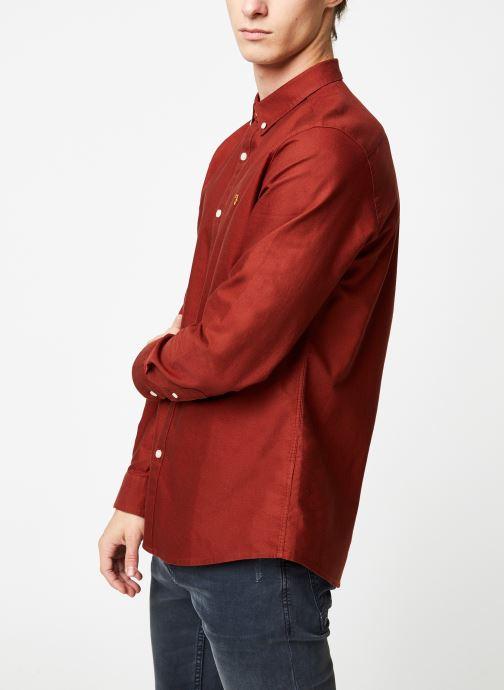 Vêtements Farah F4WS4054 Rouge vue droite