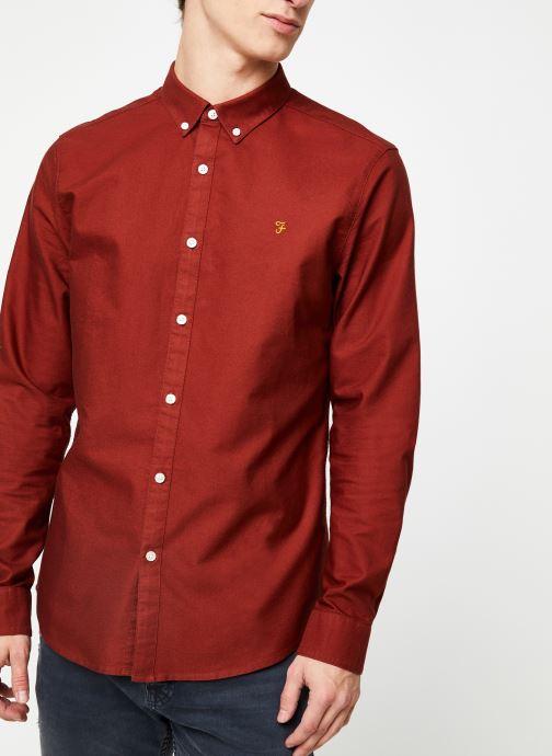 Vêtements Farah F4WS4054 Rouge vue détail/paire