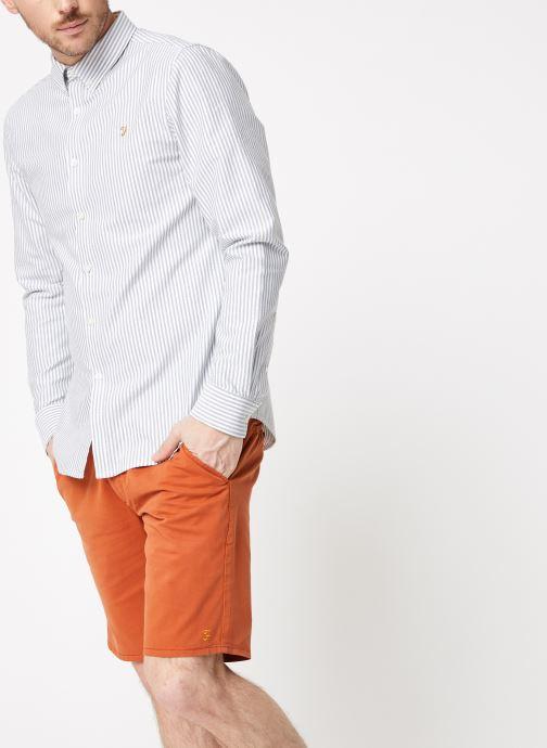 Vêtements Farah F4WF8015 Blanc vue droite