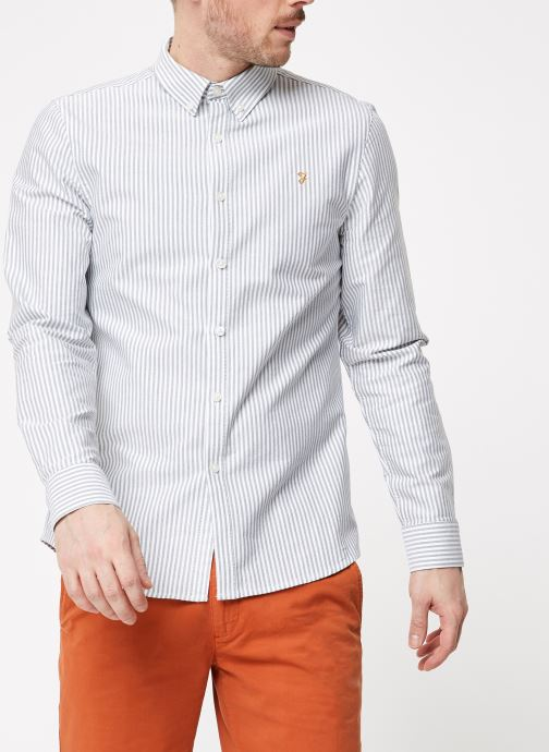 Vêtements Farah F4WF8015 Blanc vue détail/paire