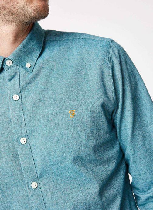 Vêtements Farah F4WF4040 Bleu vue face