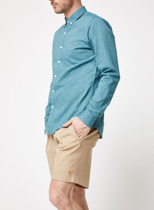 Vêtements Farah F4WF4040 Bleu vue droite
