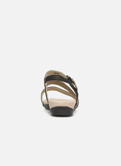 Sandals Scholl Ambrette C Black view from the right
