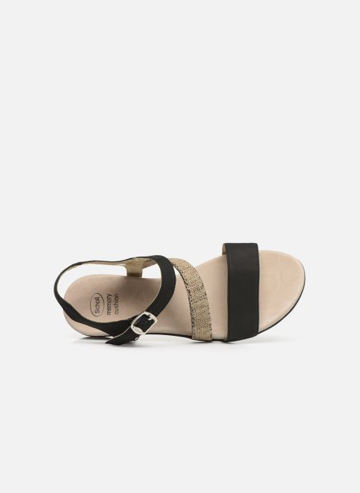 Sandals Scholl Ambrette C Black view from the left