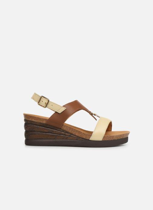 Sandales et nu-pieds Scholl Annael C Marron vue derrière