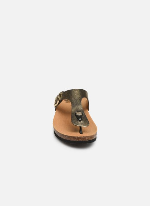 Mules & clogs Scholl Gandia C Bronze and Gold model view
