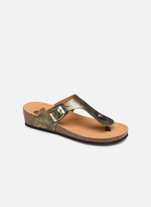 Mules & clogs Scholl Gandia C Bronze and Gold detailed view/ Pair view