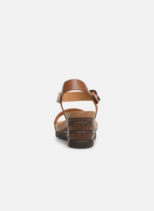 Sandals Scholl Ninfea C Brown view from the right