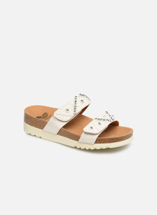 Mules & clogs Scholl Zafirah C White detailed view/ Pair view
