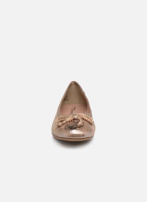 Ballerines Tamaris Hysope new Or et bronze vue portées chaussures