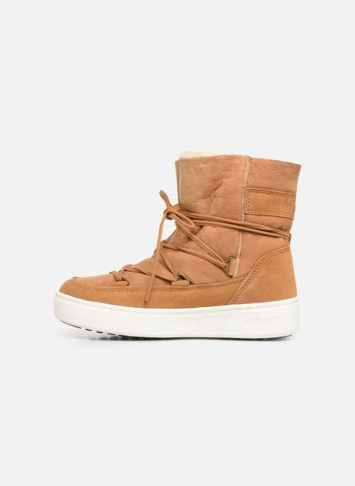 Sport shoes Moon Boot Moon Boot Pulse Jr Girl Shearling Brown front view