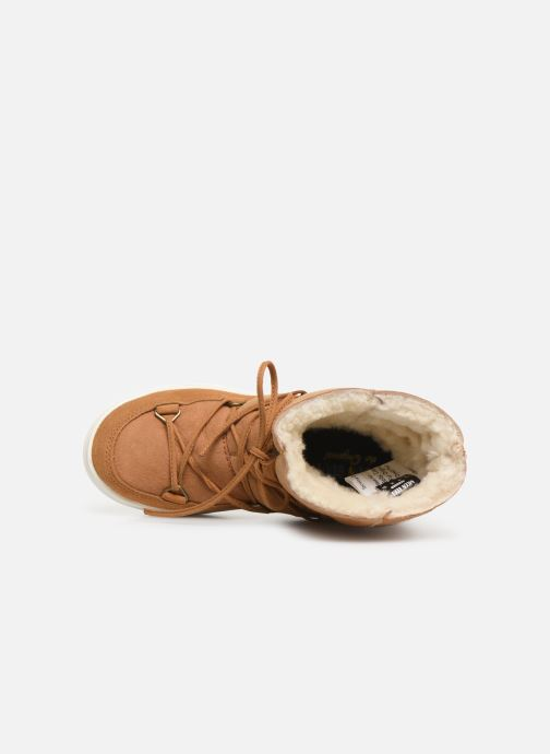Sport shoes Moon Boot Moon Boot Pulse Jr Girl Shearling Brown view from the left