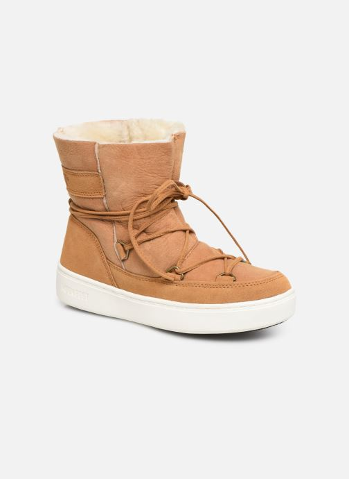Sport shoes Moon Boot Moon Boot Pulse Jr Girl Shearling Brown detailed view/ Pair view