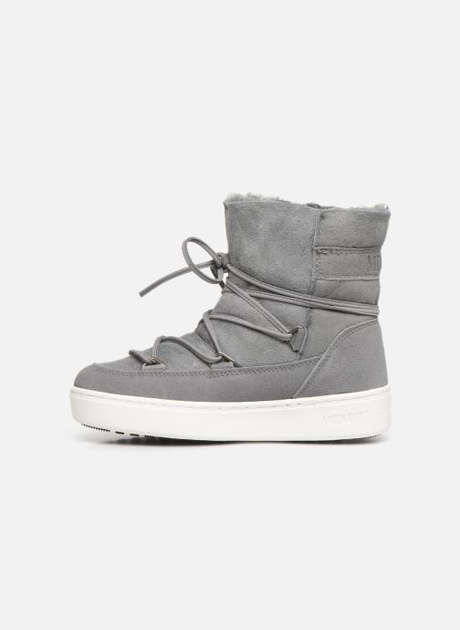 Sport shoes Moon Boot Moon Boot Pulse Jr Girl Shearling Grey front view