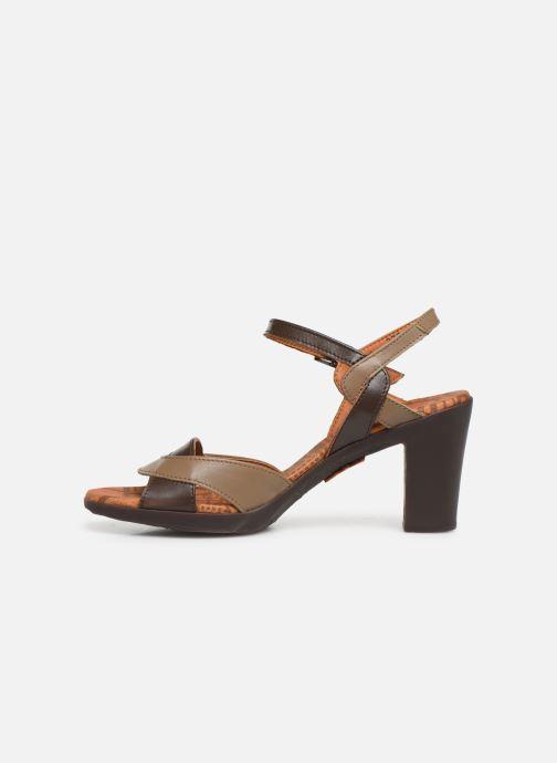 Sandales et nu-pieds Art Rio 279 Marron vue face