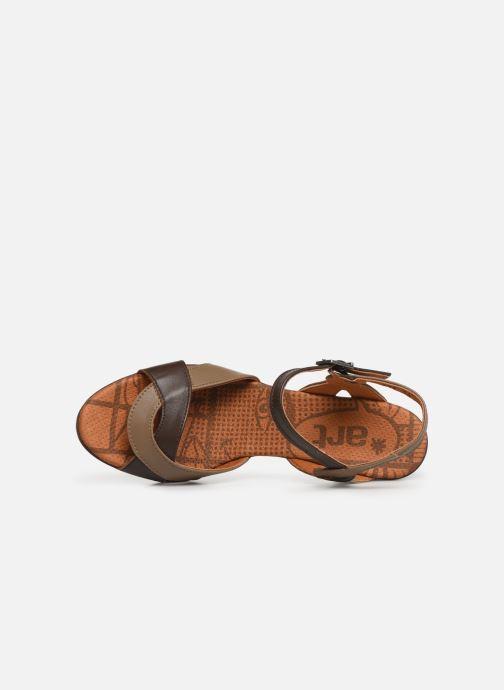 Sandales et nu-pieds Art Rio 279 Marron vue gauche